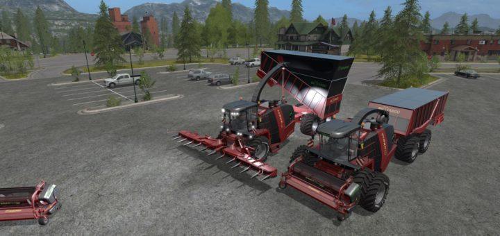 Мод комбайн KRONE BIG X CARGO V1.0 Farming Simulator 2017