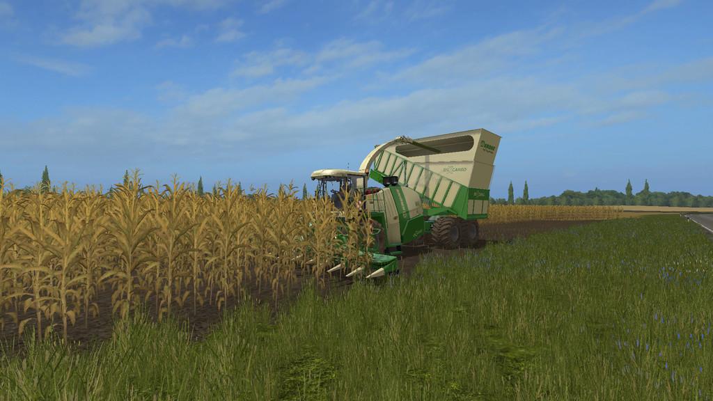Мод комбайн KRONE BIG X 1100 CARGO V1.0 Farming Simulator 17