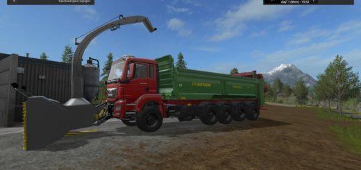 Мод грузовик MAN 10X8 MANURE V1 Farming Simulator 17