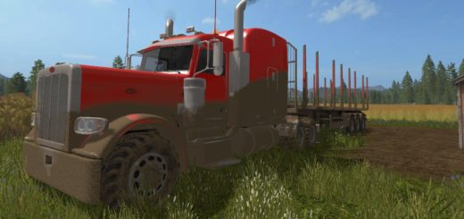 Мод тягач Peterbilt 388 v1.0 Farming Simulator 17