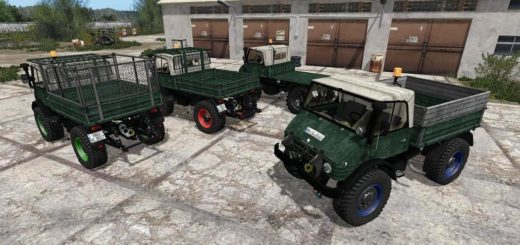 Мод грузовик UNIMOG 406 CABRIO V2.1 Farming Simulator 17
