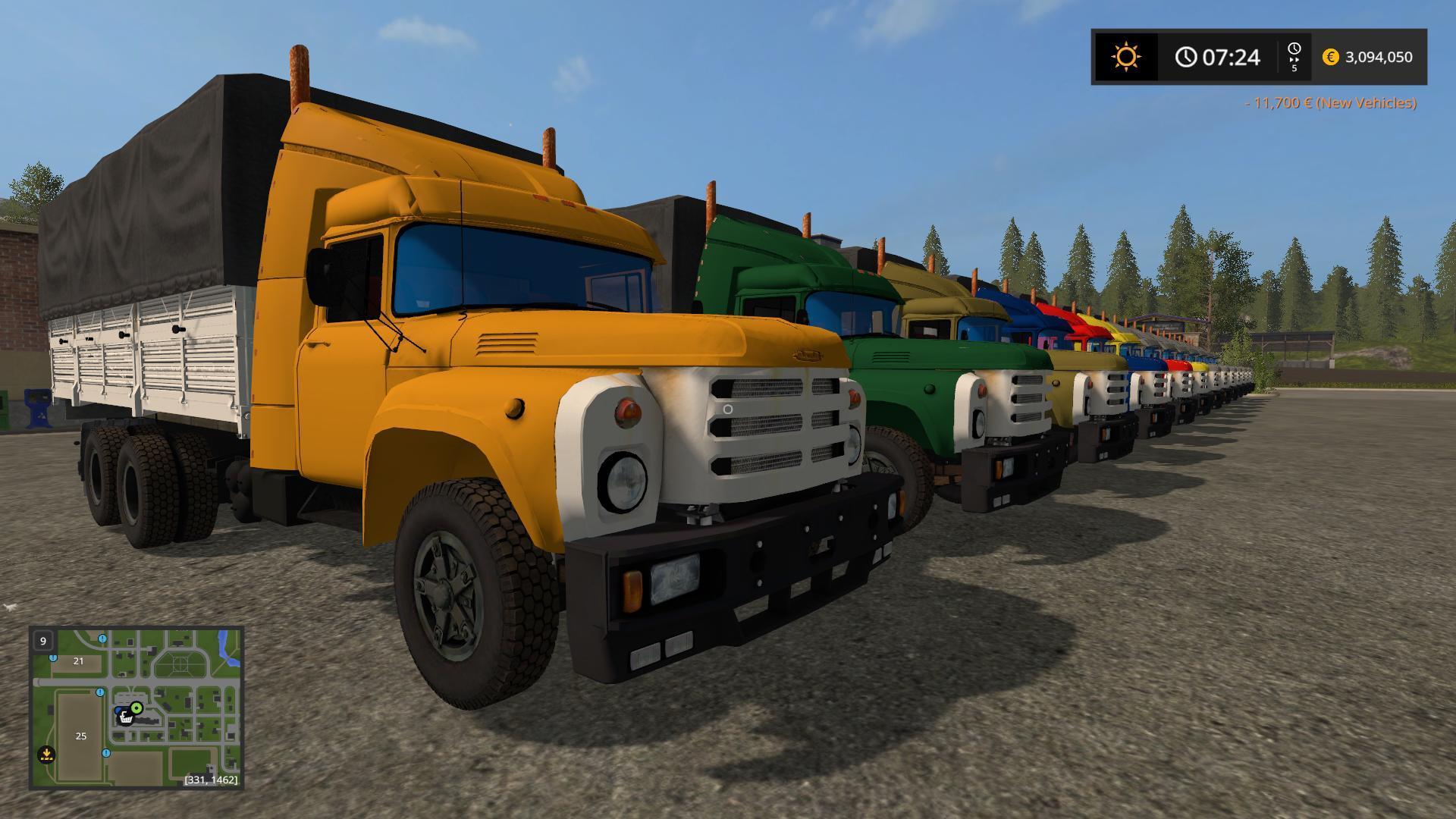 Мод грузовик ЗиЛ-133 v2.0 Фермер Симулятор 2017