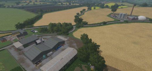 Мод карта Dowland Farm v1.0 Farming Simulator 2017