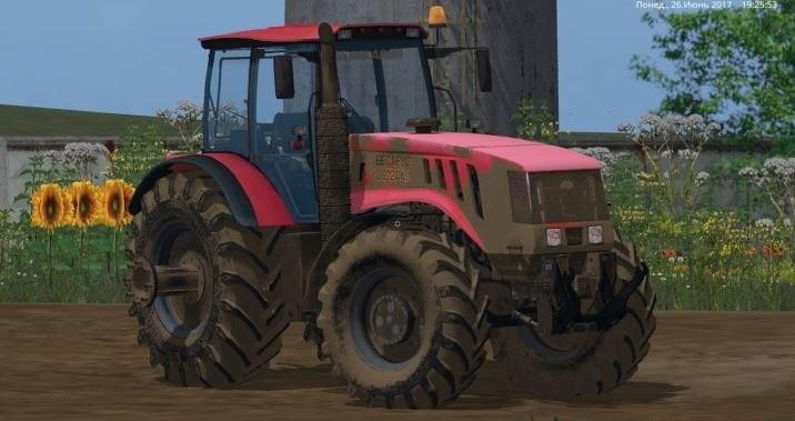 Мод трактор МТЗ 3022 ДЦ v 1.1 Фарминг Симулятор 2017