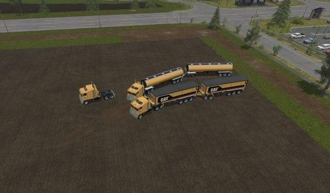 Мод ПАК Cat Truck + Trailer Farming Simulator 2017