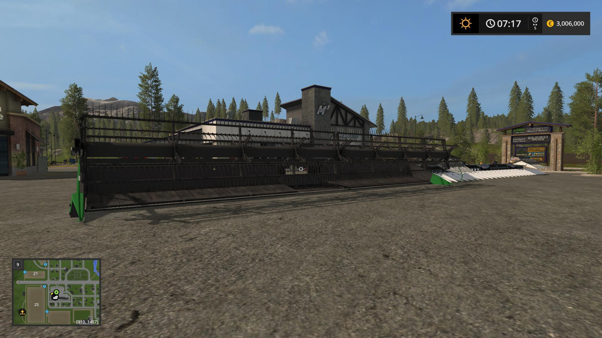 Мод ПАК 60 FOOT CUTTER PACK WITH TRAILER V1 Farming Simulator 2017