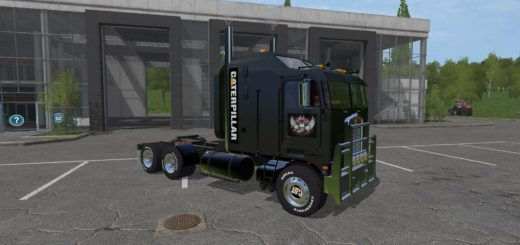 Мод тягач CAT KENWORTH K100 V1.0 Farming Simulator 2017