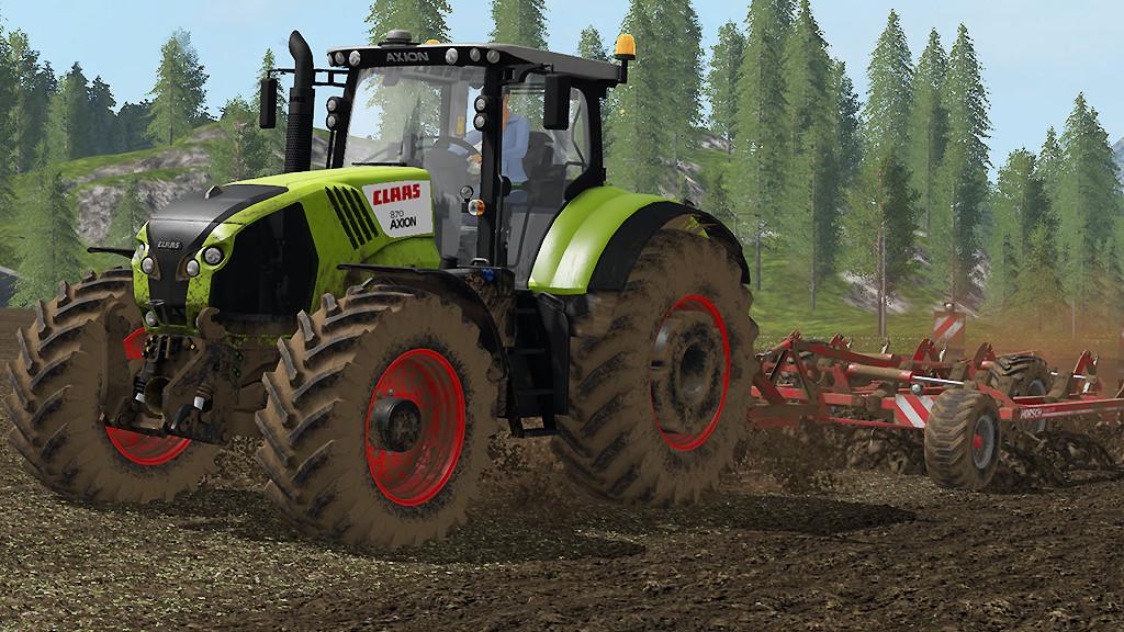Мод трактор Claas Axion 800 v 1.0.0.0 FS17