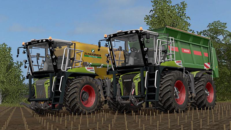 Мод трактор CLAAS XERION 4000 SADDLE TRAC V1.0 Farming Simulator 17