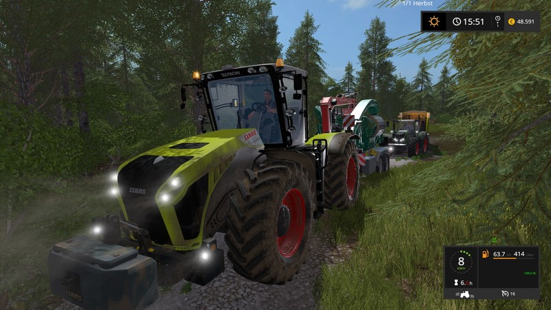 Мод ПАК CLAAS XERION WITH KAWECO DOUBLE TWIN SHIFT V1.1.7.0 FS17