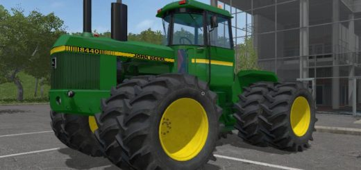 Мод трактор JOHN DEERE 8440 V1.1 Farming Simulator 17