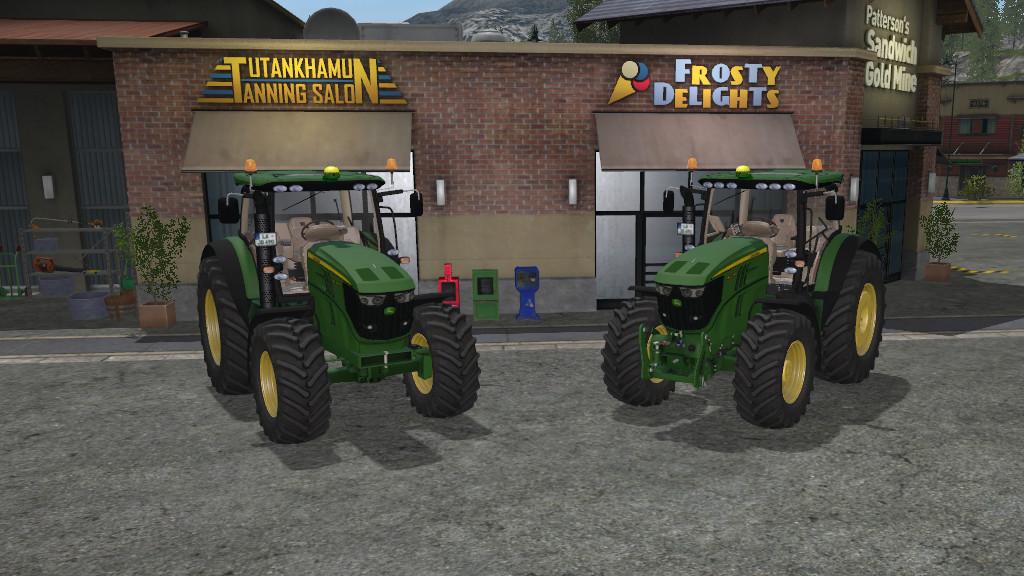 Мод трактор JOHNDEERE 6170R/6210R V1.0.0.1 Farming Simulator 2017