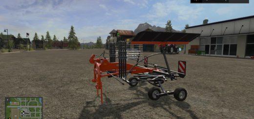 Мод сеноворошилка KUBOTA TE 6568 V1.1 Farming Simulator 17