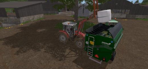 Мод прицеп миксер KEENAN MECH FIBRE 340 FEEDER WAGON V1.1 Farming Simulator 17