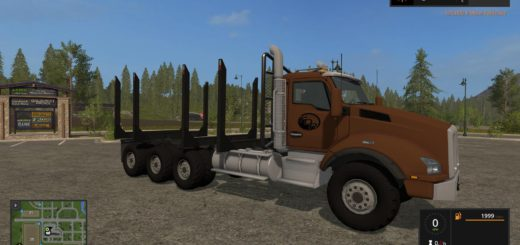 Мод грузовик LOGGING TRUCK FIXED BUNK V1.0 FS17