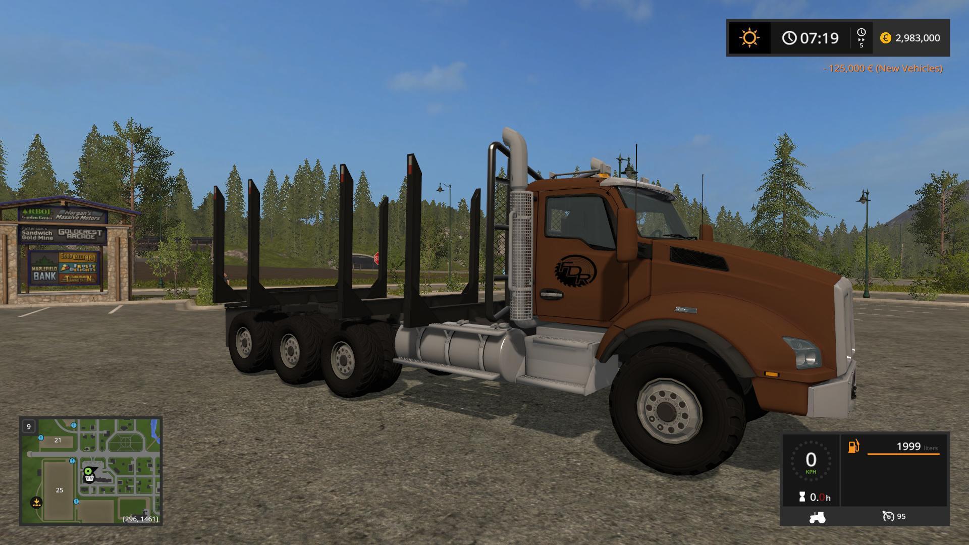Мод грузовик LOGGING TRUCK FIXED BUNK V1.0 FS17