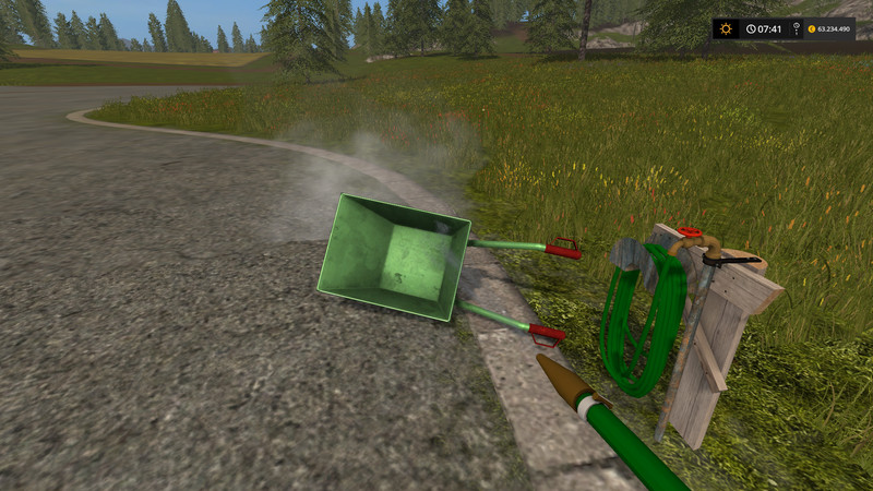 Мод мойка Placeable M82 Waterhose v1.0 FS17