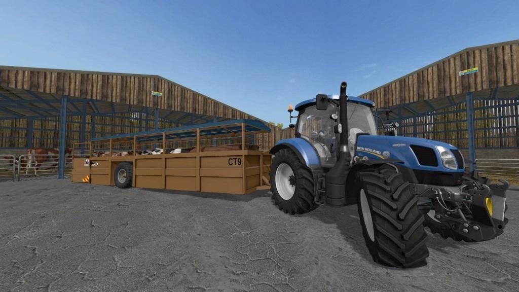 Мод ПАК прицепов RICHARD WESTERN LIVESTOCK TRANSPORTERS V1.0 Farming Simulator 2017