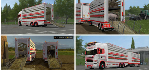 Мод грузовик SCANIA R730 V2.2 Farming Simulator 17