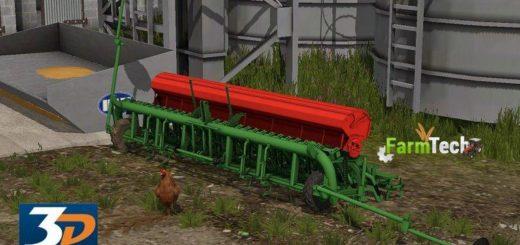 Мод сеялка SEMOIR NODET 4M V1.0 Farming Simulator 2017
