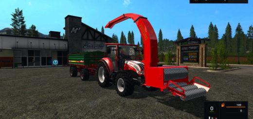 Мод щеподробилка WOOD CRUSHER V1.3 Farming Simulator 17
