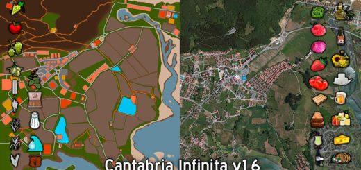 Мод карта CANTABRIA INFINITA V1.6 Farming Simulator 17