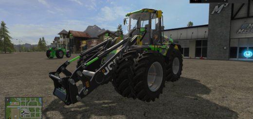 Мод погрузчик JCB 435S DIGITAL CAMO EDITION V1.2 Farming Simulator 17