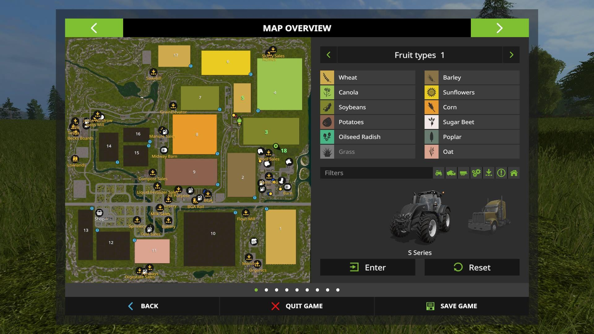 Мод карта PINE COVE FARM SEASONS UPDATE V7.0 FS17