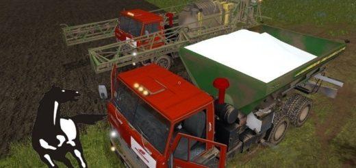 Мод грузовик КамАЗ-54101 v1.0 Фарминг Симулятор 2017