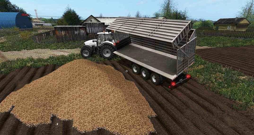 Мод прицеп Chaff Tridem UAL V1.0 Farming Simulator 2017