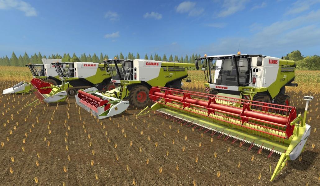 Мод ПАК комбайны Claas Lexion 700 STAGE IV Pack V 1.2  Farming Simulator 2017