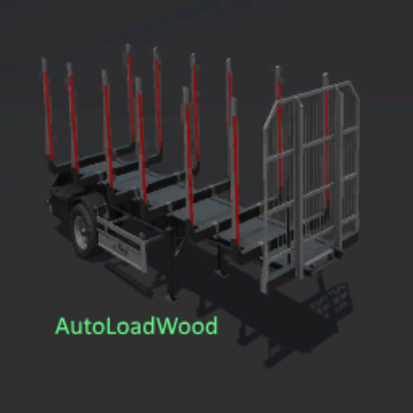Мод прицеп FLIEGL TIMBER RUNNER SHORT WITH AUTOLOAD WOOD V1.0 Farming Simulator 2017