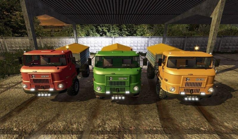 Мод грузовик IFA L60 GETREIDEAUFBAU V1.0.0.0 Farming Simulator 17