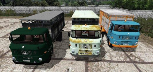 Мод грузовик IFA W50 ANIMAL TRANSPORT V3 FS17
