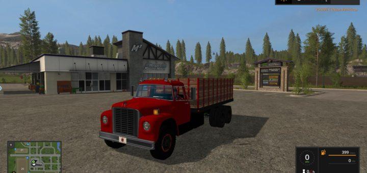 Мод грузовик INTERNATIONAL LOADSTAR GRAIN TRUCK V1.2 Farming Simulator 2017