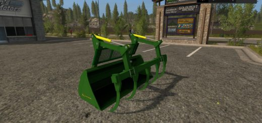 Мод ковш JOHN DEERE GRAPLE BUCKET V1.0 Farming Simulator 2017