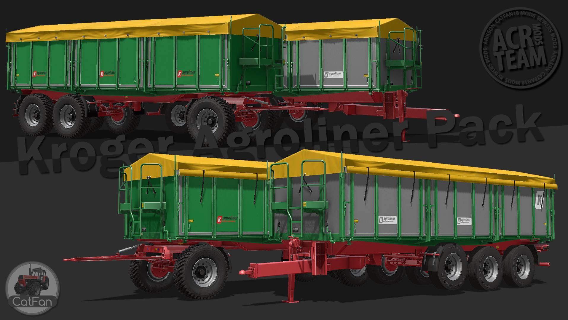 Мод ПАК прицепы KROGER AGROLINER V1.0 Farming Simulator 17