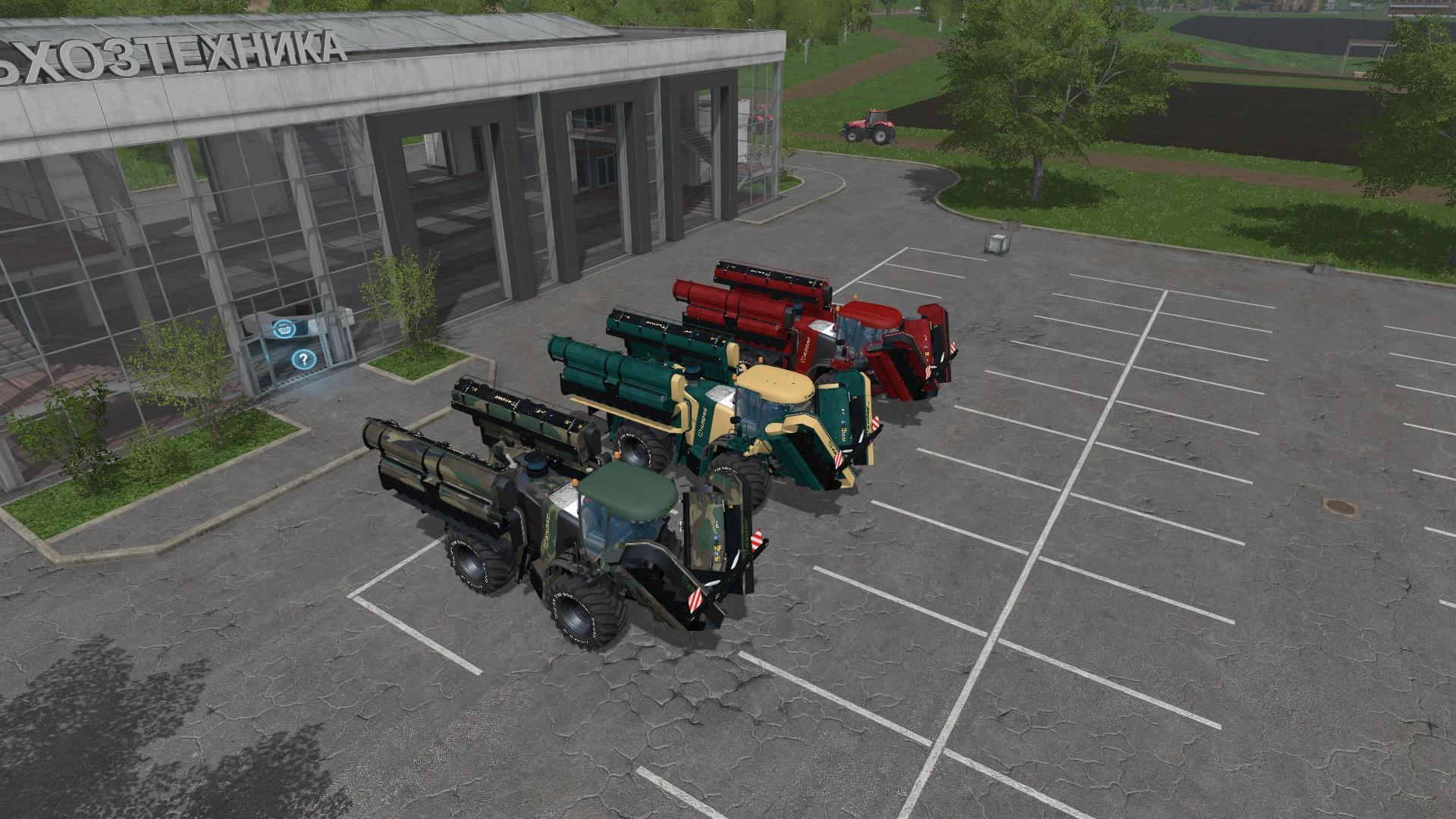 Мод ПАК комбайны KRONE BIG M500 PACK V3.0 Farming Simulator 17