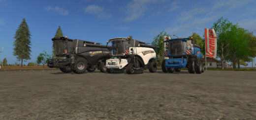 Мод комбайн NEW HOLLAND CR10.90 V1.0 Farming Simulator 17