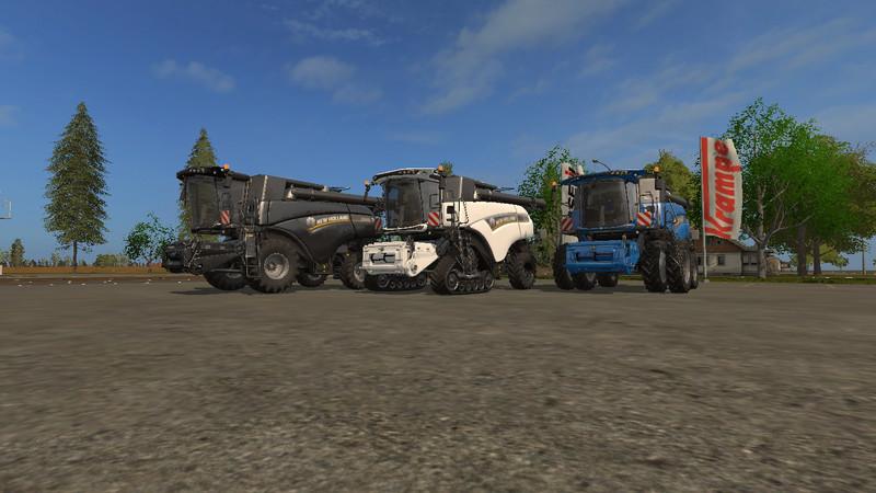 Мод комбайн NEW HOLLAND CR10.90 V1.0 Farming Simulator 17
