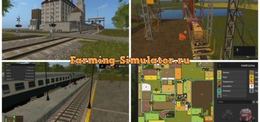 Мод карта Saxony v 3.0 Multifruit RUS Farming Simulator 17