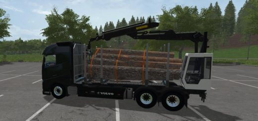 Мод грузовик Volvo forest v 1.4.4 Farming Simulator 2017