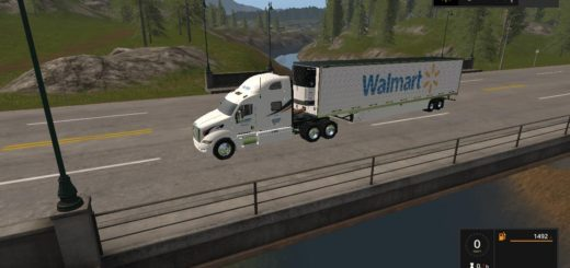 Мод ПАК WALMART PETERBILT AND TRAILER V1.0.0.0 FS17