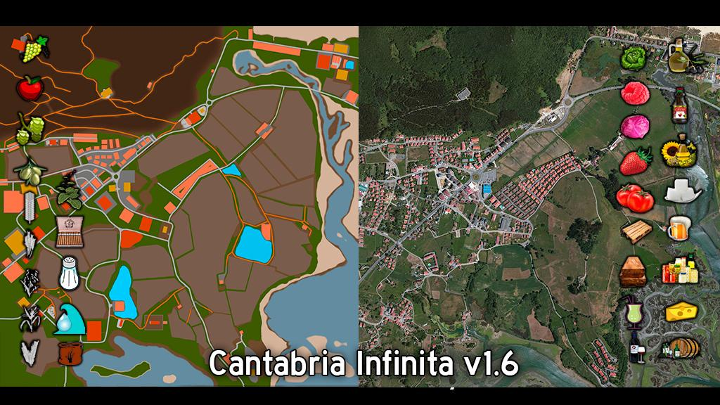 Мод карта CANTABRIA INFINITA RUS V1.6 Фарминг Симулятор 2017