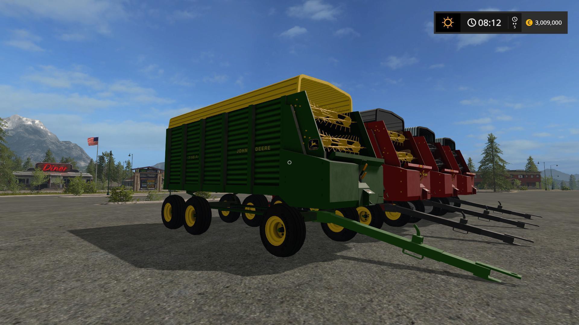 Мод прицеп CHOPPER BOX V1.0 Farming Simulator 2017
