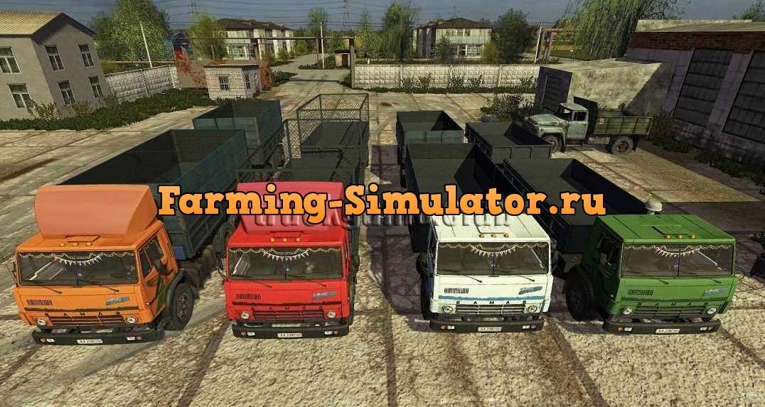 Мод грузовик Камаз-5320+НЕФАЗ-8560 V 1.0 Фермер Симулятор 2017