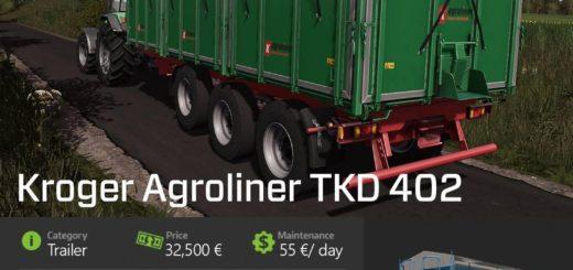 Мод ПАК прицепов Kröger Agroliner TKD 402 Pack V1.0 FS17