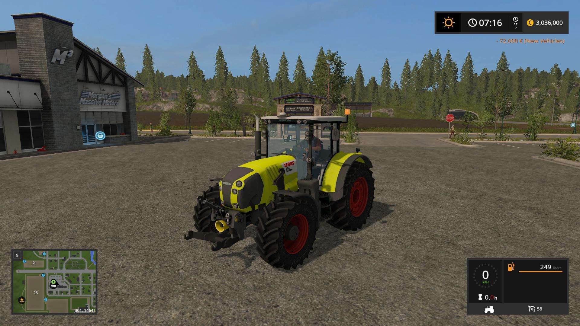 Мод трактор CLAAS ARION 650F V1.0 Farming Simulator 2017