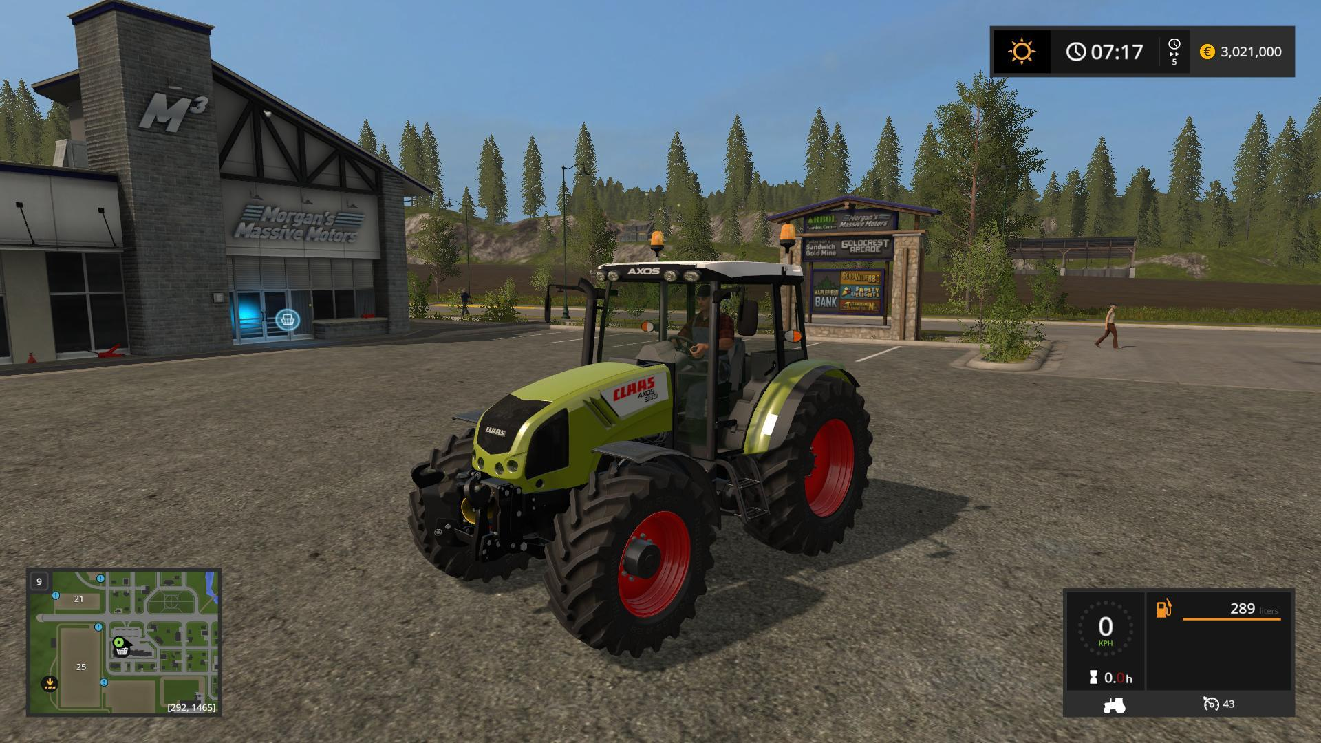 Мод трактор CLAAS AXOS 330 V1.0 Farming Simulator 2017