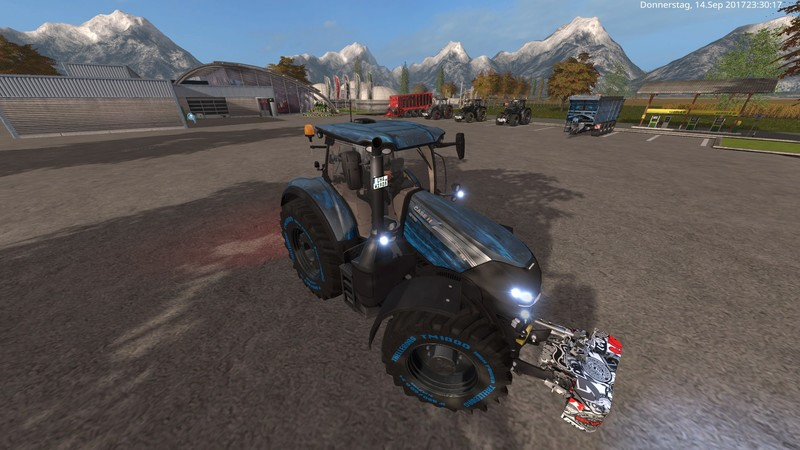 Мод трактор Case CVX Blue Edtion V 2.0.1.1 FS17